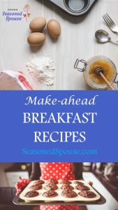 These are healthy breakfast recipes to make ahead of busy mornings so you can grab and go!