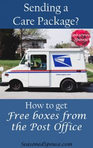 Here's how to get free boxes from the Post Office for your care packages.