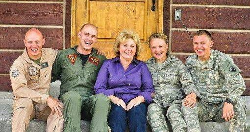 Be Safe, Love Mom book is about a military mom of 4 service members.