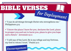 Deployment prayer and Bible verses for military spouses