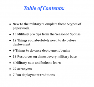 The Military 101 eBook includes all this inside!